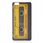 Retro Cassette Pattern Protective Back Case w/ Glossy Screen Protector for Iphone 5 - Yellow + Black
