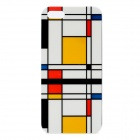 Checked Pattern Protective TPU Back Case for Iphone 5 - Black + Yellow + White