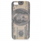 US Dollar Pattern Glossy Plastic Back Case Cover w/ Screen Protector for Iphone 5 - Deep Green