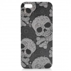 Skull Pattern Protective Plastic Hard Case w/ Screen Protector for Iphone 5 - Black + White