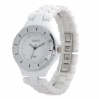 Daybird 3698 Elegant Ceramic Woman Wrist Watch - White + Silver