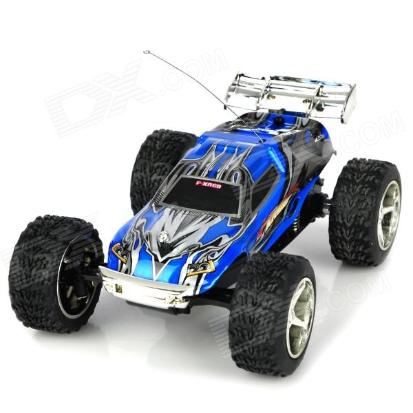 WLTOYS 2019 Rechargeable 2-CH Top Speed 27~40MHz Remote Controlled R/C Racing Car - Blue wltoys wl r4 2 9 lcd 6 axis multi function remote controller for r c toy black 4 x aa