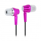 KAERNI KE-103 3.5mm Plug In-Ear Earphone - Deep Pink (120cm)
