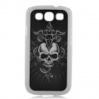 3D Skull Pattern Protective Plastic Case for Samsung i9300 Galaxy S3 - White + Black