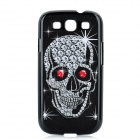 Cool Skull Pattern Protective Plastic Case for Samsung Galaxy S3 i9300 - Black