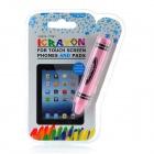 Creative Crayon Shaped Stylus Pen for Iphone / Ipad / Samsung - Pink
