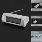 "DISUN KL-3306A Multi-Function 4.5"" LCD Speaker + Alarm Clock + FM Radio - White (4 x AA)"
