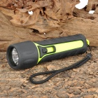 New-KX03 3W LED 160lm 1-Mode White Light Outdoor Flashlight - Black + Green (4 x AA)