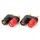 DIY Amplifier Audio Speaker Binding Post Terminal - Black + Red (2 PCS)