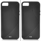 Protective PVC Plastic Case for Iphone 5 - Black (2 PCS)