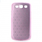 Protective Aluminum + ABS Back Case for Samsung Galaxy S3 i9300 - Pink + Silver