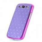 Protective Aluminum + ABS Back Case for Samsung Galaxy S3 i9300 - Purple + Silver