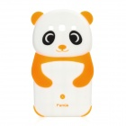Cute Panda Style Protective Silicone Back Cover Case for Samsung i9300 - Orange + White