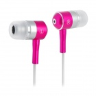 KAERNI KE-106 3.5mm Plug In-Ear Earphone - Deep Pink (120cm)