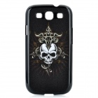 Magic Skull Pattern Protective Plastic Case for Samsung Galaxy S3 i9300 - Black