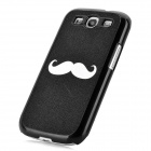 Moustache Pattern Protective Plastic Hard Case for Samsung Galaxy S3 i9300 - Black