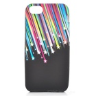 Meteoroid Falling Star Style Protective Silicone Case w/ Screen Protector for Iphone 5 - Colorful