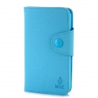 MOZ Protective PU Leather Case for Samsung Galaxy S2 i9100 - Light Blue