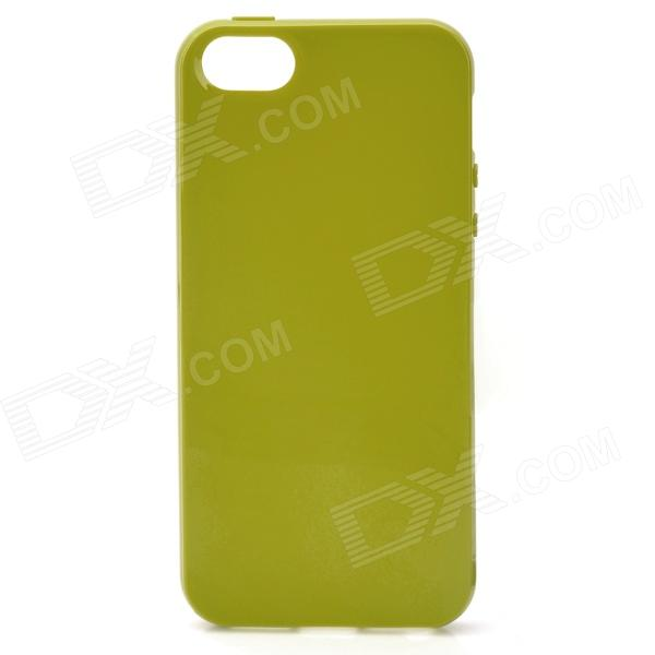 Protective Plastic Soft Case for Iphone 5 - Yellowish Green