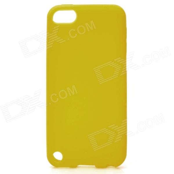 protective soft silicone back case for ipod touch 5 orange Protective Soft Silicone Back Case for Ipod Touch 5 - Yellow