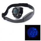 Digital Heart Rate Watch with Elastic Chest Belt - Black
