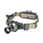 Cree XR-E Q5 160lm 3-Mode White Light Zooming Headlamp w/ 6-Front + 5-Rear Red LEDs (1 x 18650)
