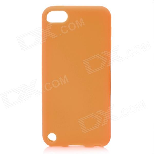 protective soft silicone back case for ipod touch 5 orange Protective Soft Silicone Back Case for Ipod Touch 5 - Orange