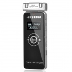 "HYUNDAI HYM-4018 1"" OLED Voice Recorder w/ TF / FM / Microphone - Black (4GB)"