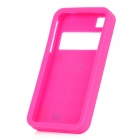 3D Calculator Style Protective Silicone Back Case for Iphone 4 / 4S - Deep Pink