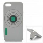 Retro Camera Style Protective Silicone Back Cover Case for Iphone 5 - Grey