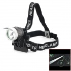 Cree XM-L T6 600lm 3-Mode White Light Headlamp / Bicycle Bike Light - Silver + Grey (4 x 18650)