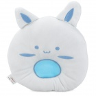 Soft Velvet Baby Shaping Pillow - White + Light Blue