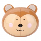 Cartoon Bear Style Toothbrush Holder w/ Suction Cups - Brown