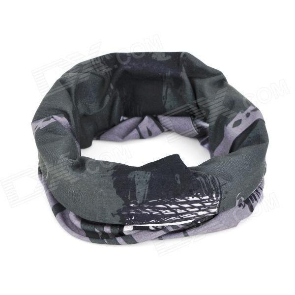 Skull Style Outdoor Sports Bicycle Bike Cycling Head Scarf - Black + White (2 PCS)