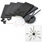 DIY Wall Sticker Art Wall Clock w/ Silent Movement - Black (1 x AA)