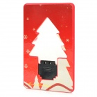 Card Style Christmas Tree Pattern 2-LED Green Light Lamp - Red