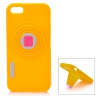 Retro Camera Style Protective Silicone Back Cover Case for Iphone 5 - Yellow