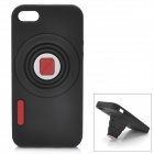 Retro Camera Style Protective Silicone Back Cover Case for Iphone 5 - Black