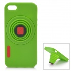 Retro Camera Style Protective Silicone Back Cover Case for Iphone 5 - Green