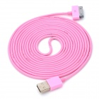 Imos Dock 30-Pin Male to USB 2.0 Male Data / Charging Cable for iPhone / iPad / iPod - Pink (280cm)