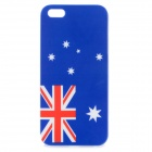 The Australia Flag Glossy Plastic Back Case Cover for Iphone 5 - Red + White + Blue