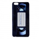 Retro Cassette Pattern Protective Back Case for Iphone 5 - Black