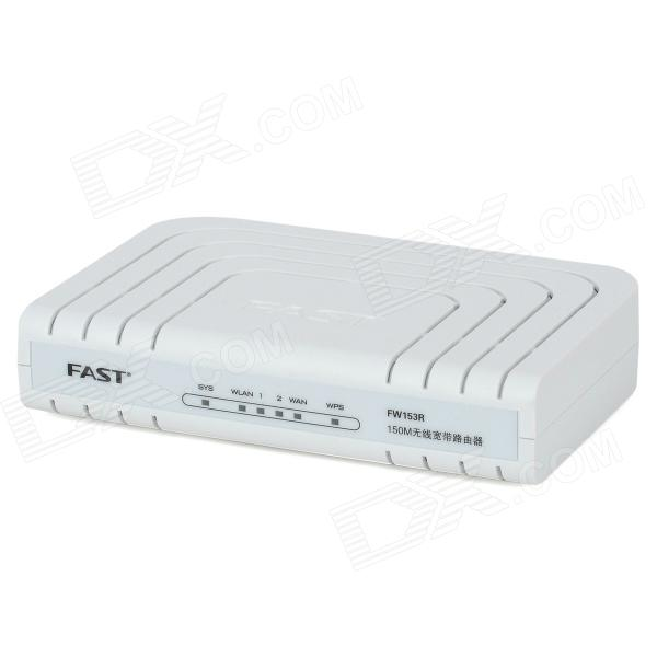Fast FW153R 2.4GHz 150Mbps 802.11b/g/n Wireless Router - White fast talk italian