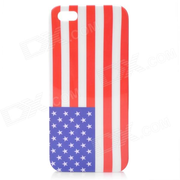 USA Flag Pattern Glossy Plastic Back Case w/ Screen Protector for Iphone 5 london pattern protective plastic back case w front screen protector for iphone 5 grey red