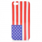 USA Flag Pattern Glossy Plastic Back Case w/ Screen Protector for Iphone 5