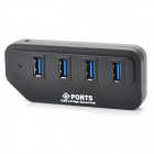 Super Speed 4-Port USB 3.0 HUB - Black