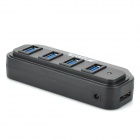 Super Speed ​​USB 4 portas 3.0 Hub - Preto