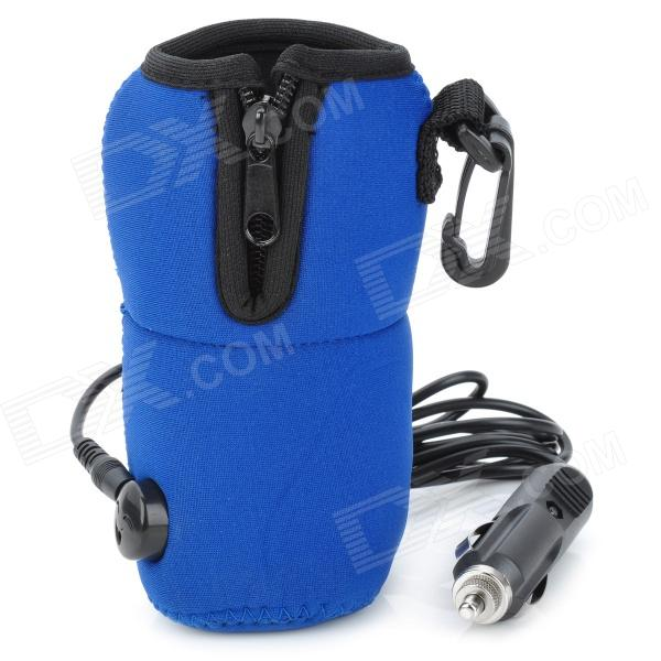 Car Cigarette Powered Travel Coffee Water Milk Baby Bottle Warmer Heater - Blue (12V)