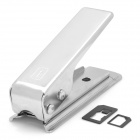 Nano SIM Card Cutter w/ 2 Adapters for iPhone 5 - Silver