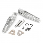DIY Motorcycle Parts Back Pedals for Suzuki - Silver (Pair)